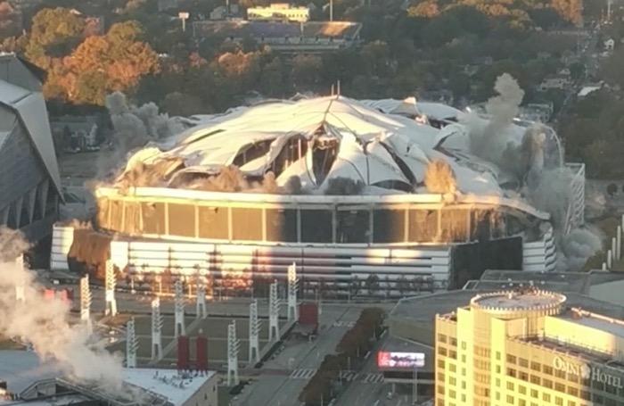 georgia dome implosion
