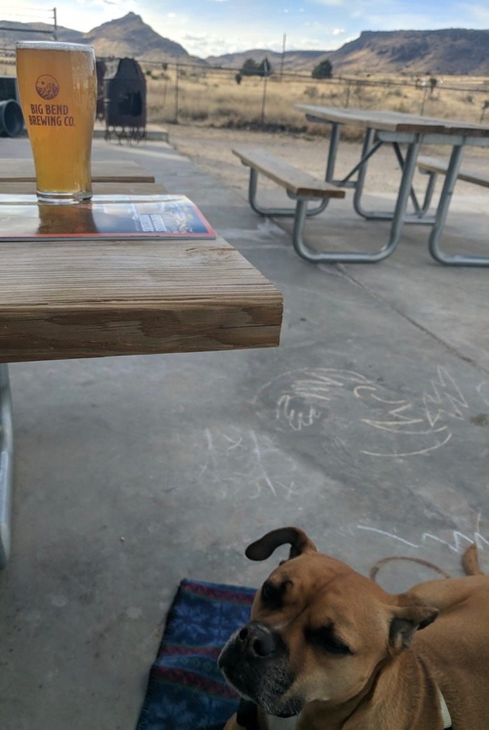 Big Bend Brewery with our dog