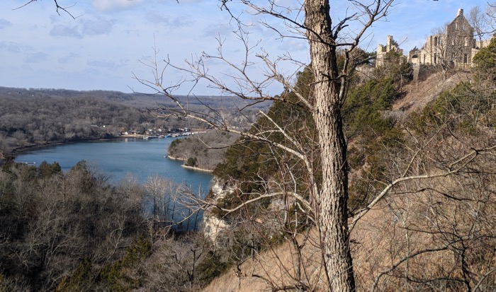 view of castle at ha ha tonka and lake of the ozarks