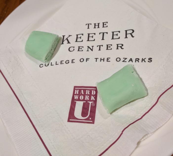 mints at the keeter center restaurant branson