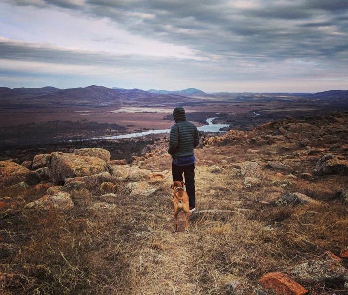 hiking Wichita Mountains refuge