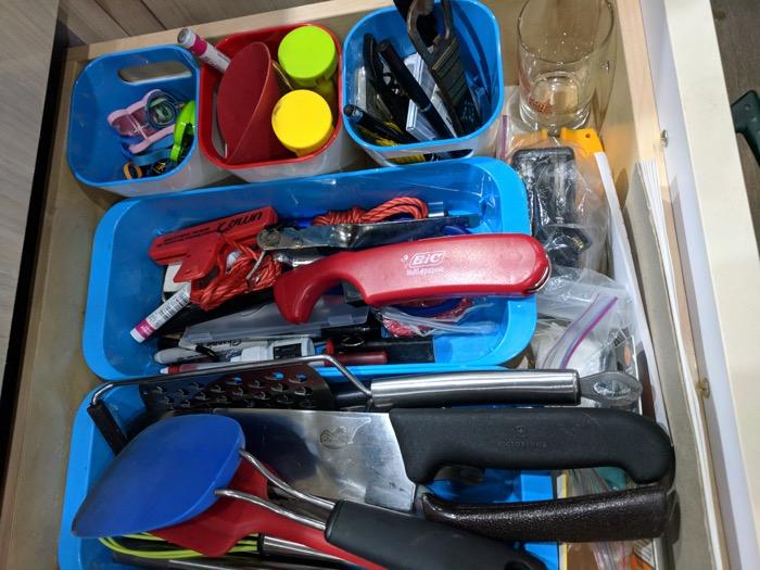 organizing kitchen supplies