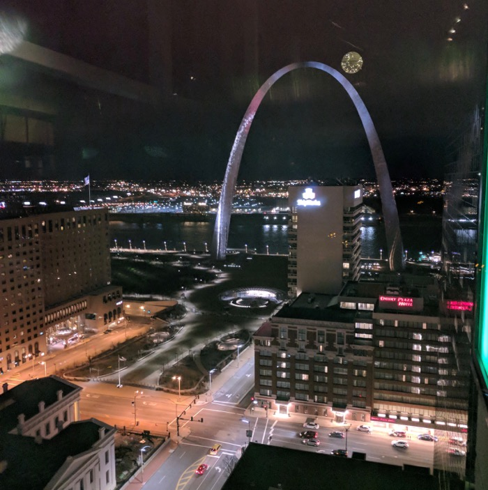 view of the Arch from 360 bar