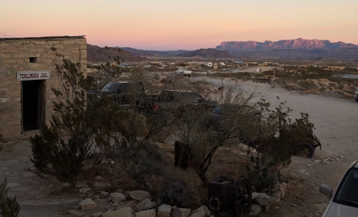 sunset from Terlingua ghost town