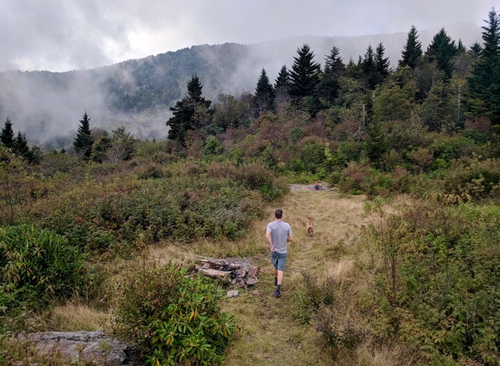 hiking Maple Camp Bald