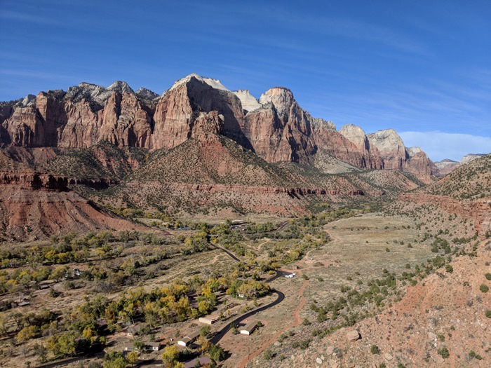 view from Watchman Trail