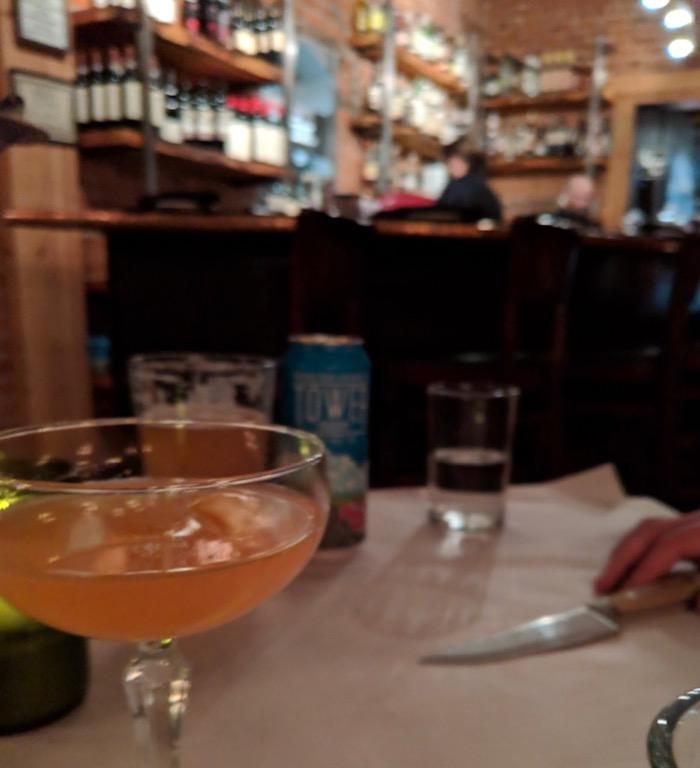 cocktail at Brix, Flagstaff