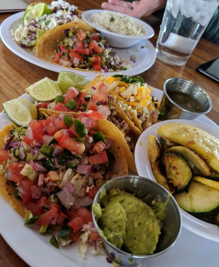 fish tacos at Seis in MSA