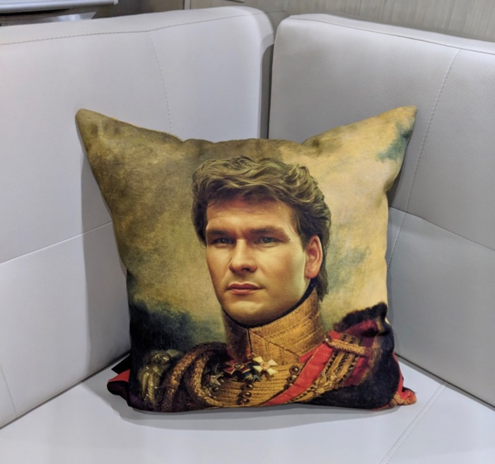 Patrick Swayze pillow
