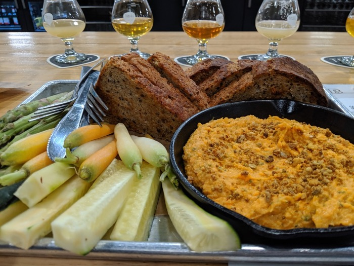 carrot hummus at troegs brewing