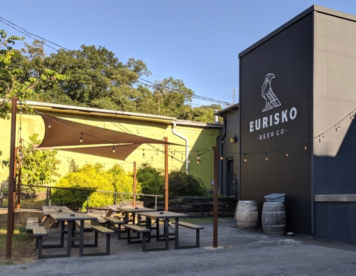 patio at Eurisko Brewing