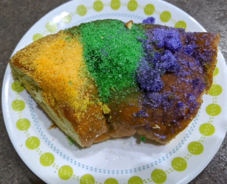 King Cake slice in the Airstream