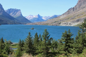 Wild Goose Island in Saint Mary Lake