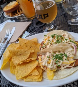 fish tacos at MAP Brewing
