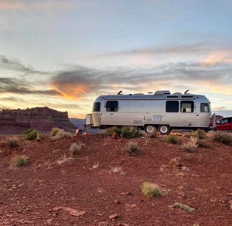 airstream in Valley of the Gods
