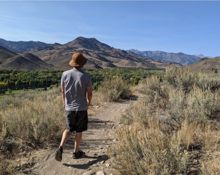 hiking White Cloud Nine in Sun Valley