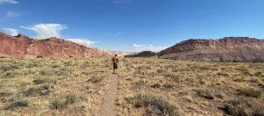 hiking Fremont Gorge Overlook trail