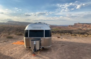 the Airstream near Capitol Reef