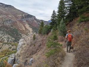 hiking the Crimson Trail in Logan Canyon