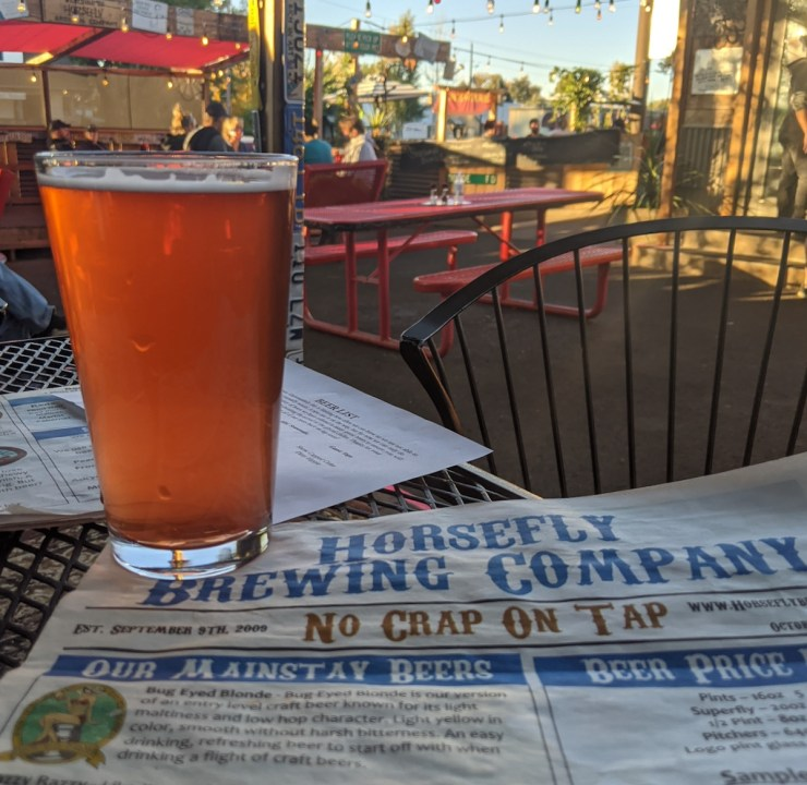beer at Horsefly in Montrose