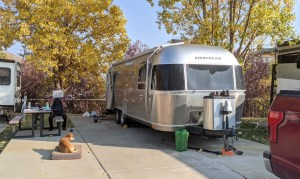 The Airstream and Bugsy at Park City RV Resort