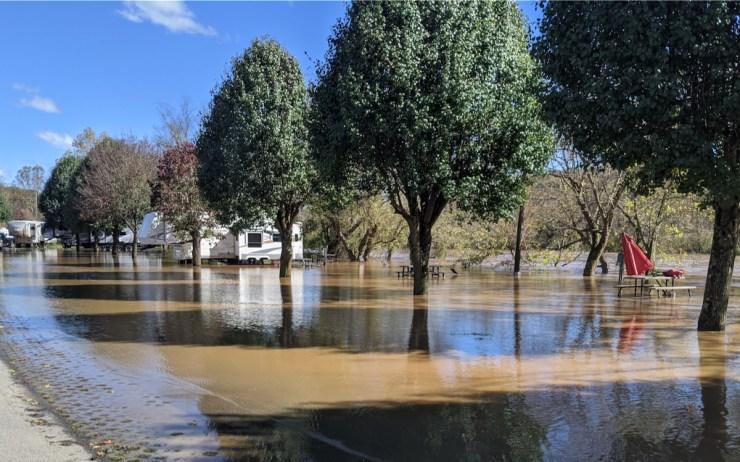 Wilson's Riverfront RV Park underwater