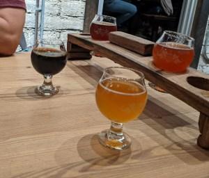 sour beer flight at the Funkatorium