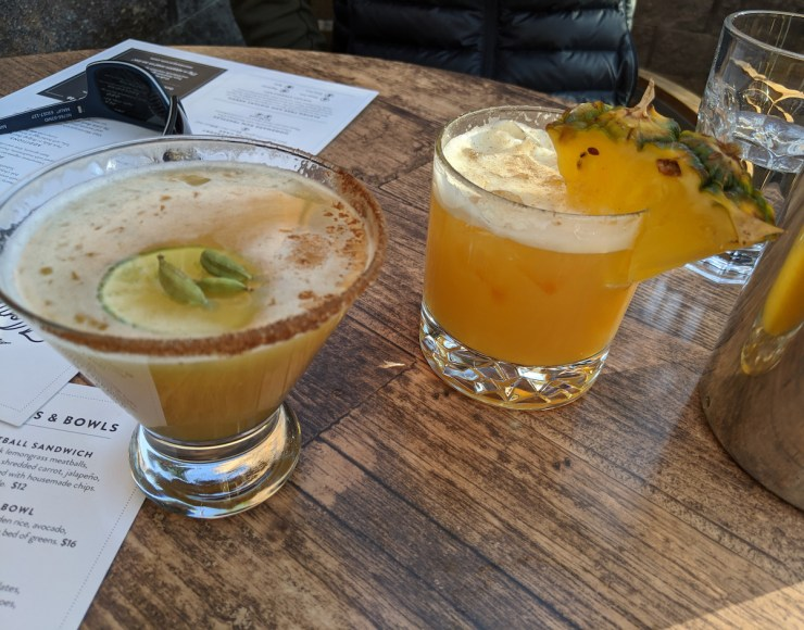 cocktails at Montanya Distillery