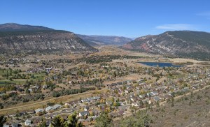 view from Raiders Ridge trail in Durango