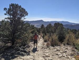 hiking Raiders Ridge trail in Durango