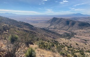 view from Joe's Canyon Trail in Coronado National Monument