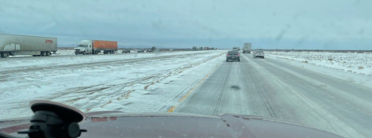 frozen I-10 in New Mexico