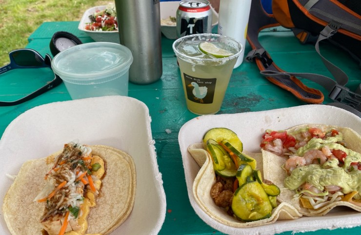 lunch at White Duck Tacos