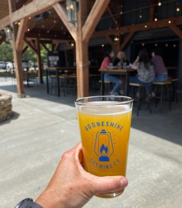 lunch and a beer at Boonshine Brewing