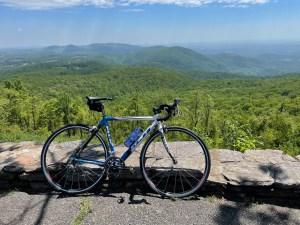 overlook on the Blue Ridge Parkway near Floyd