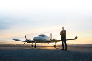 man and aircraft