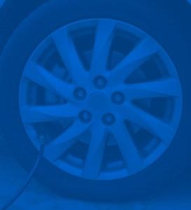 blue wheel background