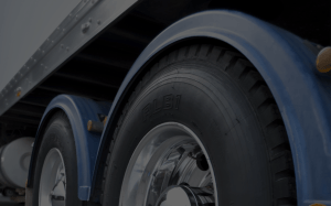 Truck wheels background