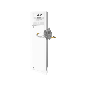 FRP Freestanding inflator with compressor white generic service station