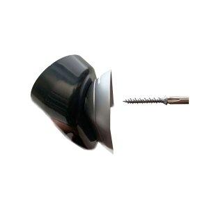 Screw will auto align as you tighten.