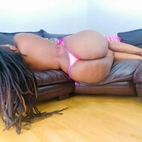 Lorraine Lionheart - The Ghanaian African Woman with Huge Brown Rideable Ass Gets Naked