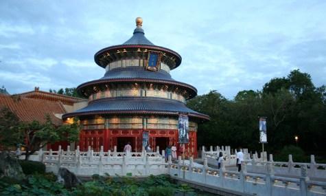 Man findet nicht nur im China Pavillon von Epcot chinesische Baukunst, auch im ...