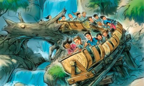 Schwingende Züge beim Seven Dwarfs Minetrain