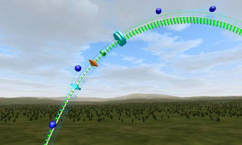 Hier sind die Vertices (blau), die Type und Style Seperator (Türkis),die Trigger (orange) und die Rolling Nods (grün) zu sehen.