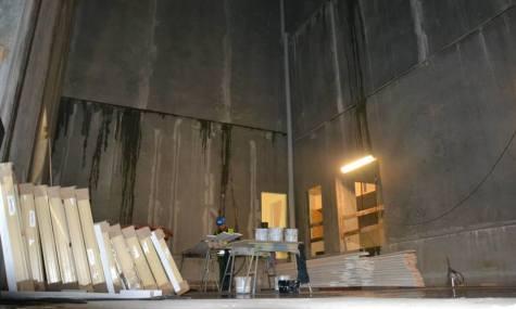 ...und innen: Die Kellerkammer des Professors
