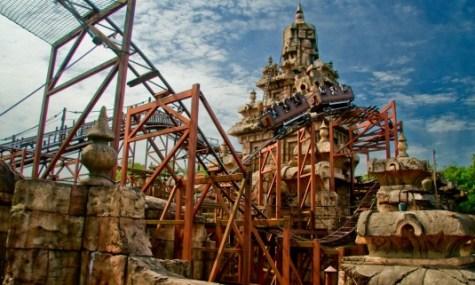 Ein Teil der enormen Tempelanlage, um die Indiana Jones gebaut wurde.