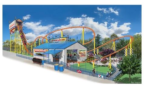 Der Family Shuttle Coaster wird ganz unter dem Thema Autorennen stehen