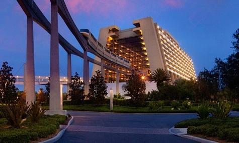Übersicht vom Hauptgebäude des Contemporary Resort