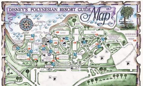 Eine Übersicht über das Resort verschafft ein eigener Plan