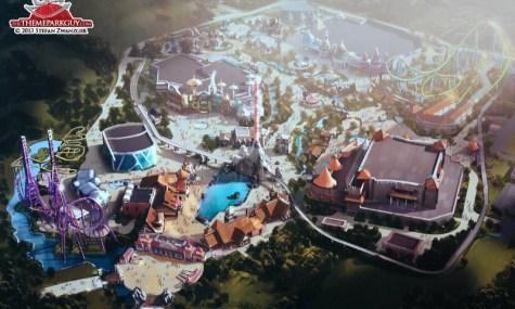 Das finale Design des Parks: Bereits Ende 2013 sollte der Park eröffnen...
